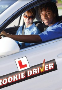 rookie driver black man in car with instructor